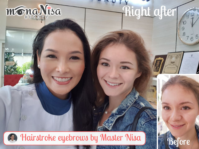 Hair stroke eyebrows with premium equipment by master Nisa